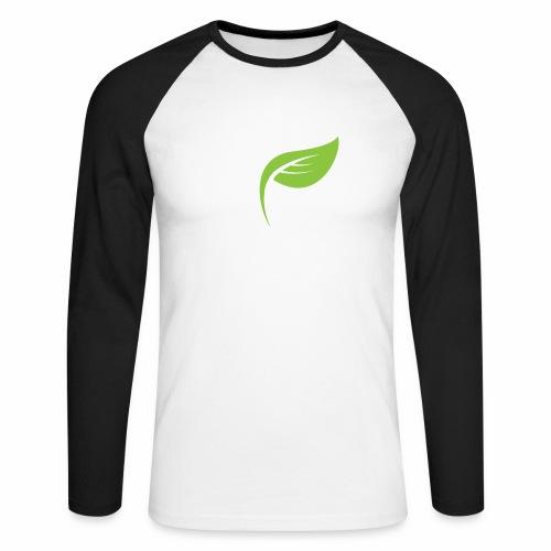 DrGreen Logo Symbol weiss grün - Männer Baseballshirt langarm