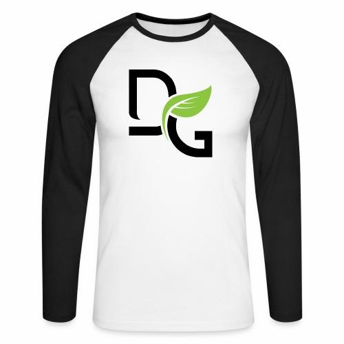 DrGreen Logo Symbol schwarz grün - Männer Baseballshirt langarm