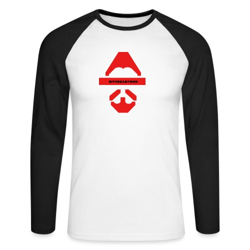 Biturzartmon Logo rot glatt - Männer Baseballshirt langarm