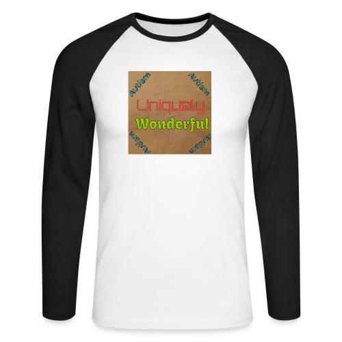 Autism statement - Men's Long Sleeve Baseball T-Shirt