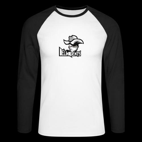 Delinquents TriColor - Langærmet herre-baseballshirt