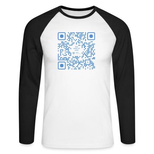QR The New Internet Shouldn t Be Blockchain Based - Men's Long Sleeve Baseball T-Shirt