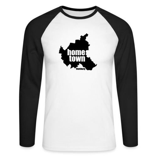 Hamburg-home-town - Männer Baseballshirt langarm