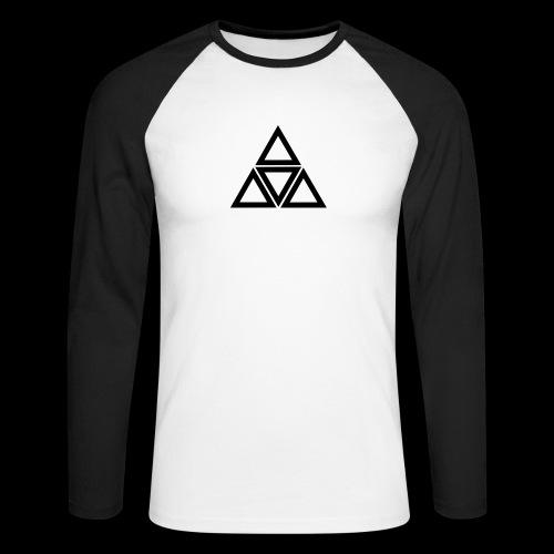triangle - Maglia da baseball a manica lunga da uomo