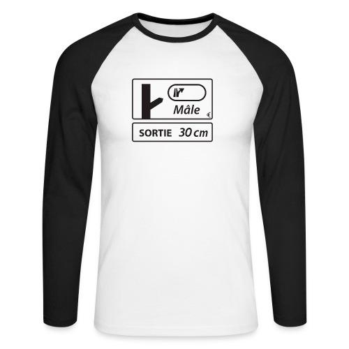 sortie30cm - T-shirt baseball manches longues Homme