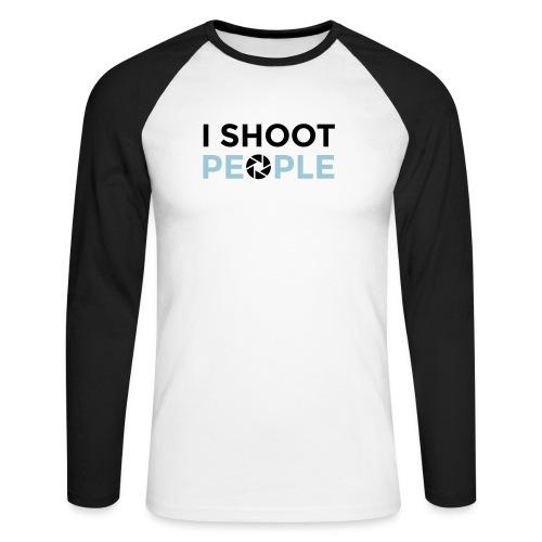I shoot people - Men's Long Sleeve Baseball T-Shirt