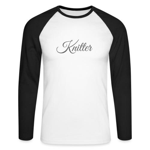 Knitter, dark gray - Men's Long Sleeve Baseball T-Shirt