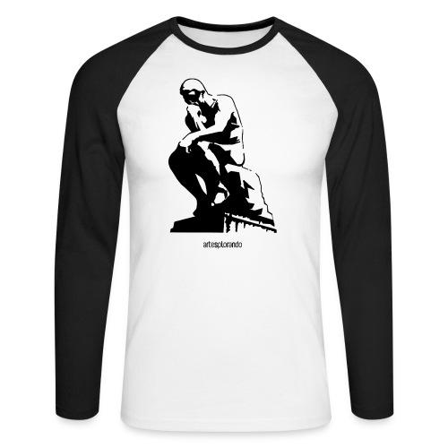 Auguste Rodin, il pensatore - Maglia da baseball a manica lunga da uomo