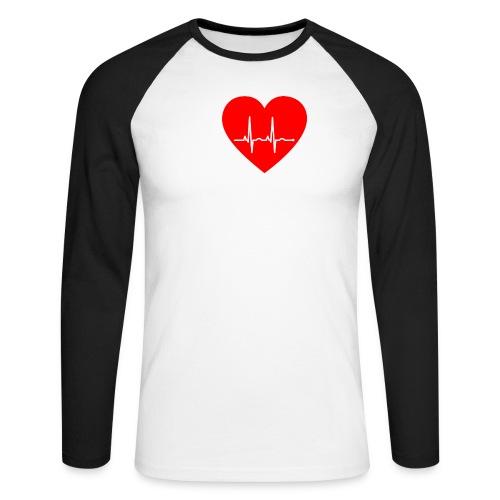 ILoveKrankenhaus3 weiss - Männer Baseballshirt langarm