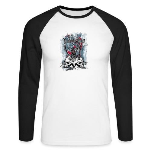rock n roll skulls - Mannen baseballshirt lange mouw