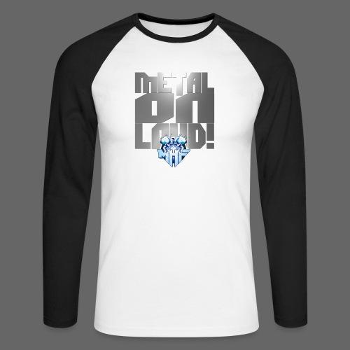 metalonloud large 4k png - Men's Long Sleeve Baseball T-Shirt