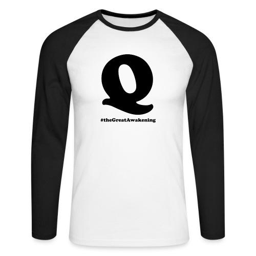 Q Anon #theGreatAwakening - Miesten pitkähihainen baseballpaita