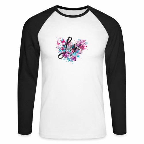 Love with Heart - Men's Long Sleeve Baseball T-Shirt