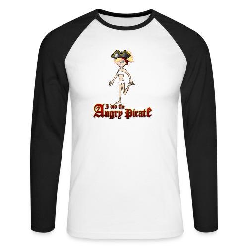 The Angry Pirate (Man) - Männer Baseballshirt langarm
