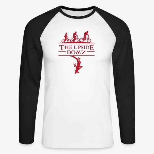 upside down - Koszulka męska bejsbolowa z długim rękawem