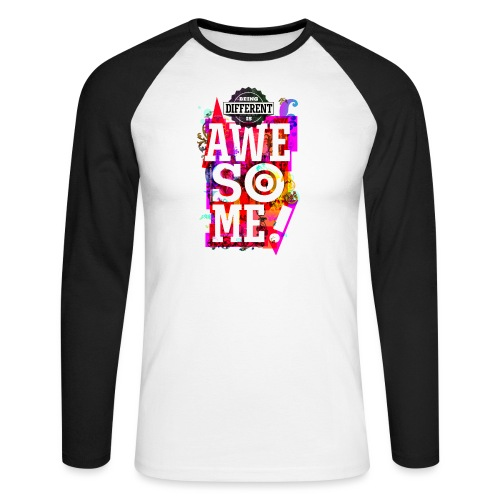 Different = Awesome - Men's Long Sleeve Baseball T-Shirt