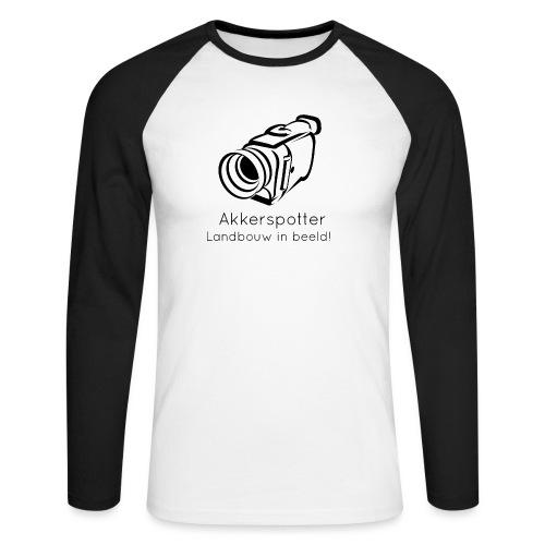 Logo akkerspotter - Mannen baseballshirt lange mouw