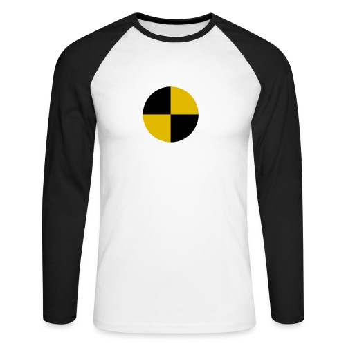 crash test - Men's Long Sleeve Baseball T-Shirt