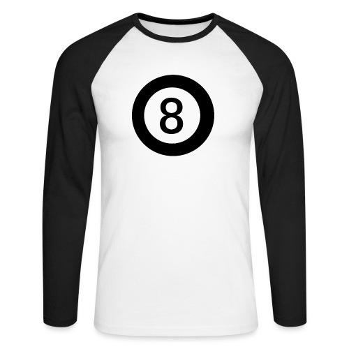 Black 8 - Men's Long Sleeve Baseball T-Shirt