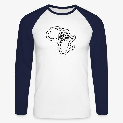 afrika pictogram - Mannen baseballshirt lange mouw