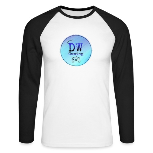 dw logo - Men's Long Sleeve Baseball T-Shirt