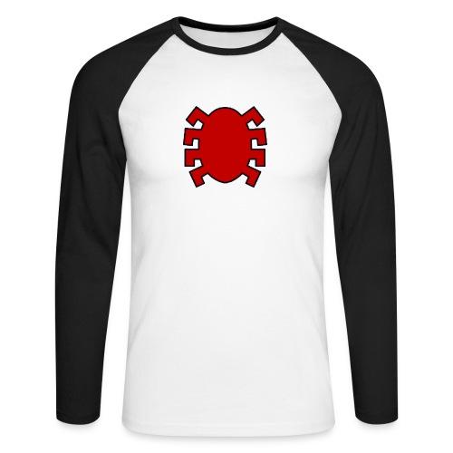 spiderman back - Men's Long Sleeve Baseball T-Shirt