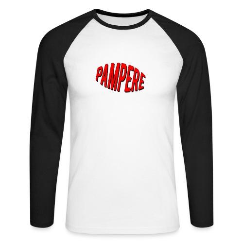 pampere - Koszulka męska bejsbolowa z długim rękawem