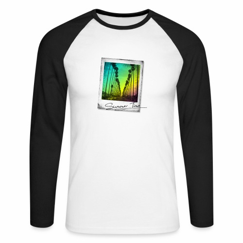 Summer Time - Men's Long Sleeve Baseball T-Shirt