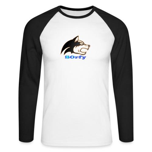 s0rfyplays logo banner - Men's Long Sleeve Baseball T-Shirt