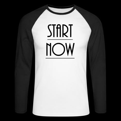 start now - Männer Baseballshirt langarm