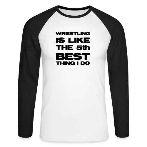 5thbest1 - Men's Long Sleeve Baseball T-Shirt