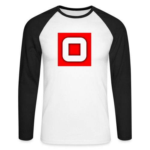 Vanlig Logo (tonåring) - Långärmad basebolltröja herr