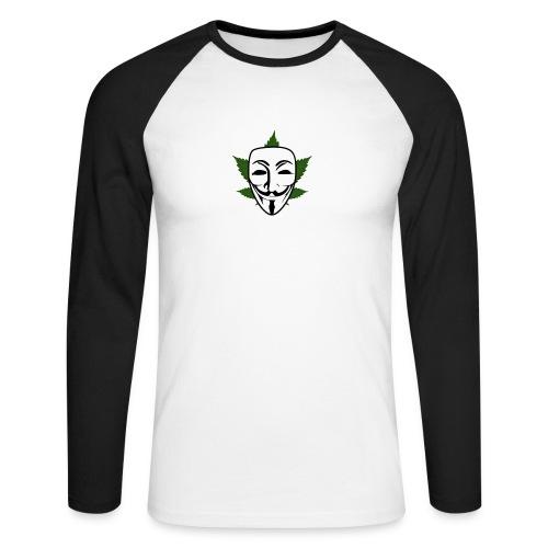 Anonymous - Mannen baseballshirt lange mouw