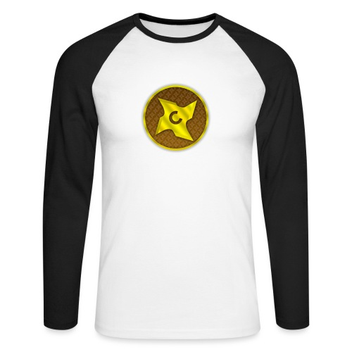 creative cap - Langærmet herre-baseballshirt