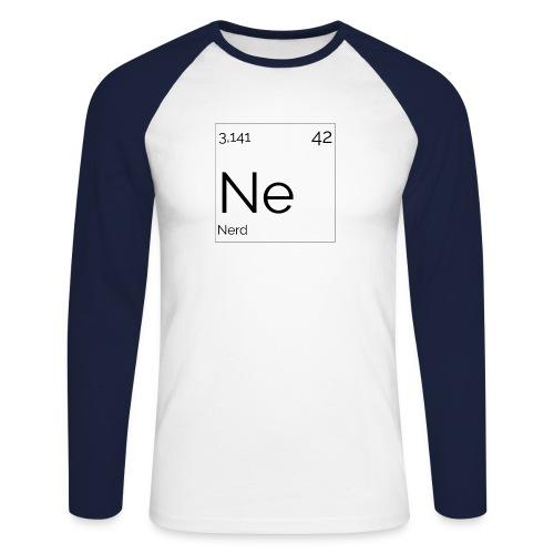Mendeleïev Nerd - T-shirt baseball manches longues Homme