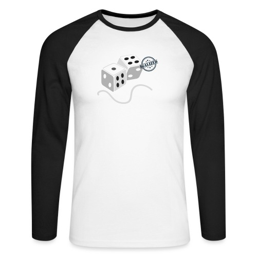 Dice - Symbols of Happiness - Men's Long Sleeve Baseball T-Shirt