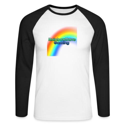 RainbowDave Gaming Logo - Men's Long Sleeve Baseball T-Shirt