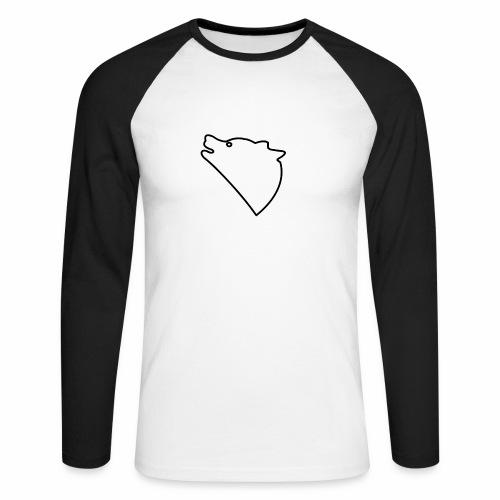 Wolf baul logo - Mannen baseballshirt lange mouw