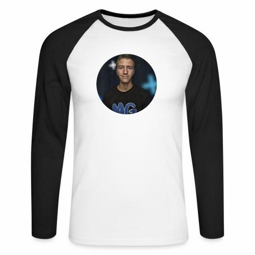 Design blala - Mannen baseballshirt lange mouw