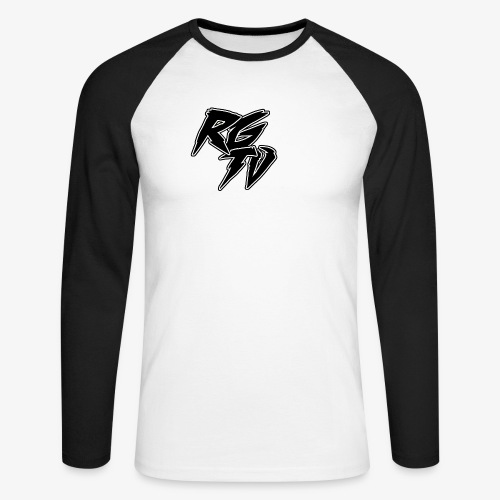 RGTV LOGO - Men's Long Sleeve Baseball T-Shirt