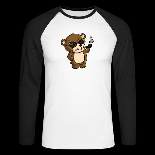 AngryTeddy - Men's Long Sleeve Baseball T-Shirt