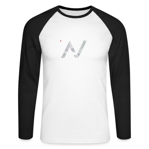 logoalpha blanc - T-shirt baseball manches longues Homme