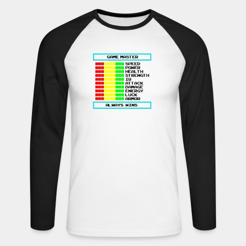 game master - Koszulka męska bejsbolowa z długim rękawem