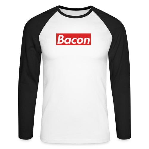 Bacon - Långärmad basebolltröja herr