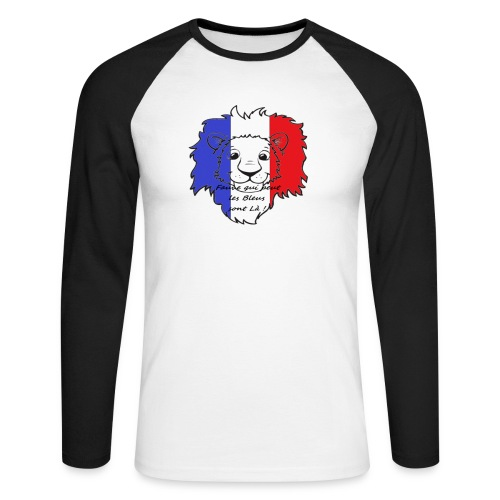 Lion supporter France - T-shirt baseball manches longues Homme