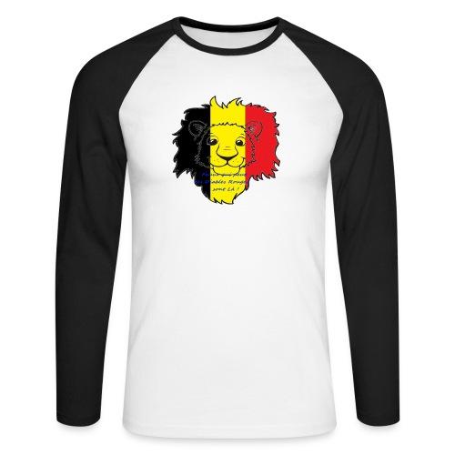 Lion supporter Belgique - T-shirt baseball manches longues Homme