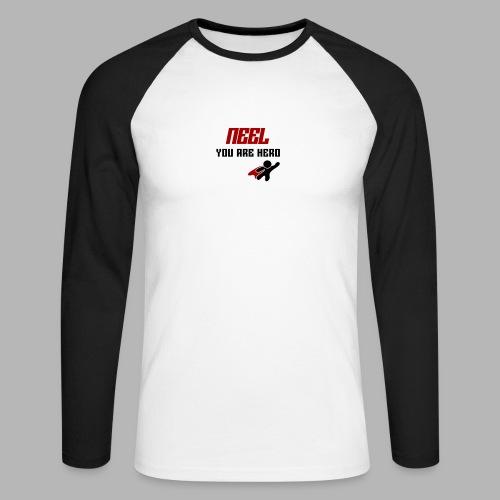 NEEL You Are Hero - Koszulka męska bejsbolowa z długim rękawem