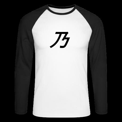 B Logo - Langærmet herre-baseballshirt