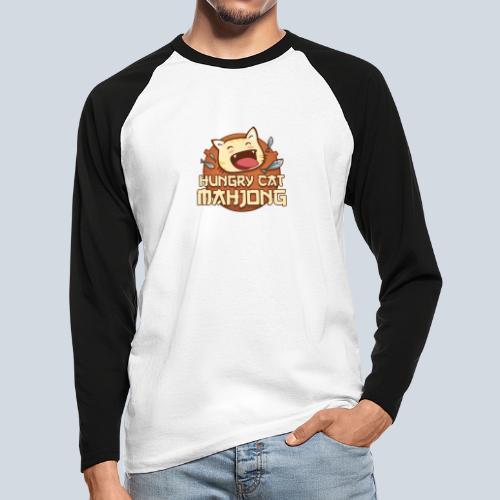 Logo Hungry Cat Mahjong - T-shirt baseball manches longues Homme