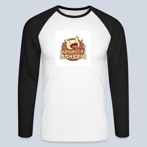 Logo Hungry Cat Mahjong - T-shirt baseball manches longues Homme